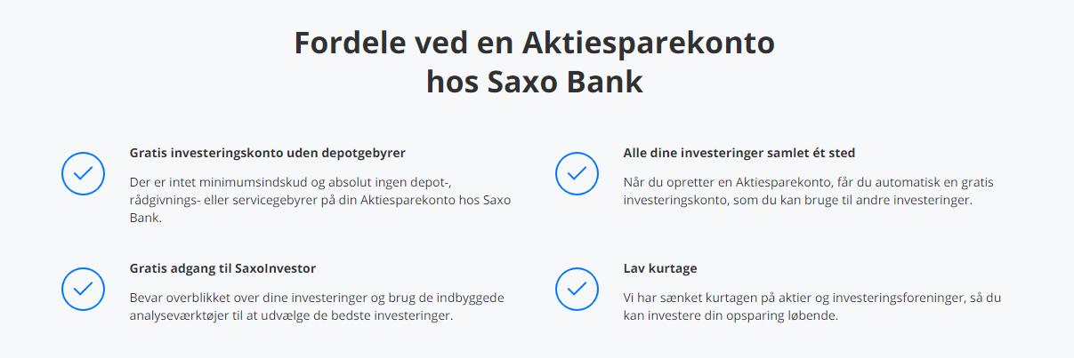 Fordele ved en aktiesparekonto hos Saxo Bank